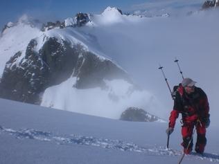 Le sommet du Lombarducciu après une ascension glaciaire