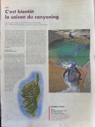 Canyoning Corse et derniers préparatifs de saison