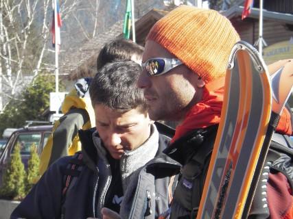Manu et Laurent en attendant la benne n° 24 de l'Aiguille du Midi