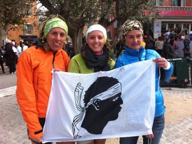 Marie-Anne, Perrine et Laetitia à l'arrivée à Cassis !