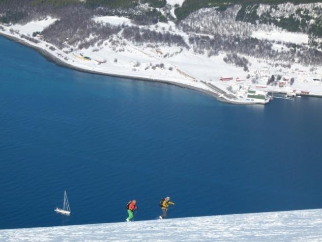 Skier à partir d'un bateau sur les fjords de Norvège... ça donne ça !