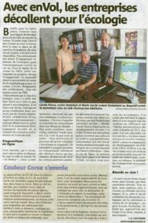 Article Corse Matin du 17 mai 2013