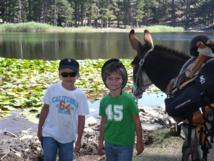 Randonnée avec les anes au lac de Creno