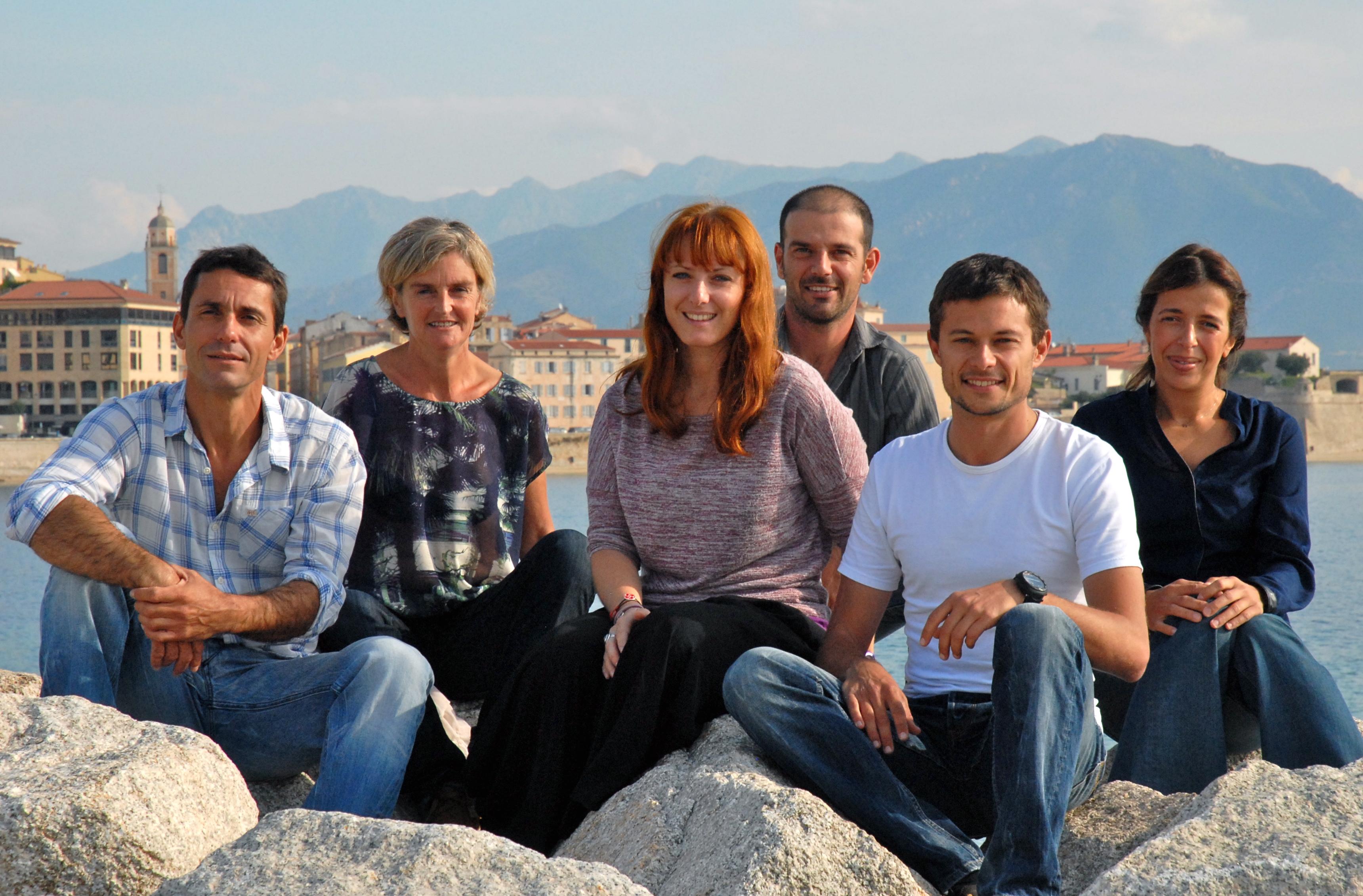 Manu, Laëtitia, Perrine, Cédric, Sylvain, Myriam (de gauche à droite)