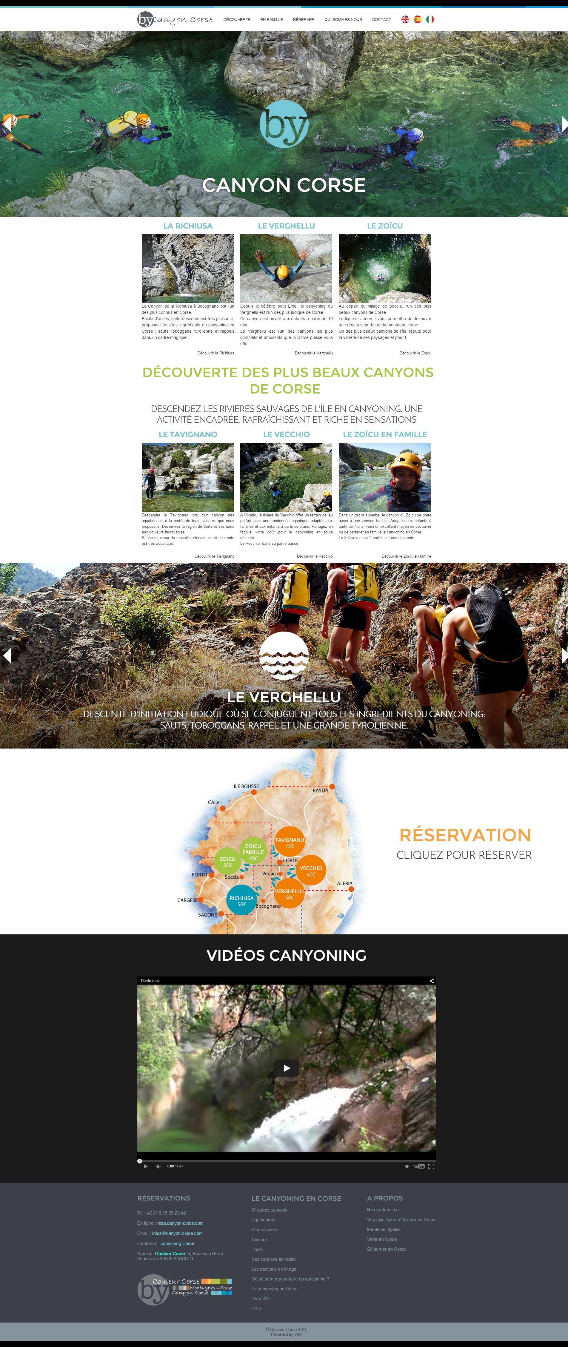 Le nouveau site de Canyon Corse