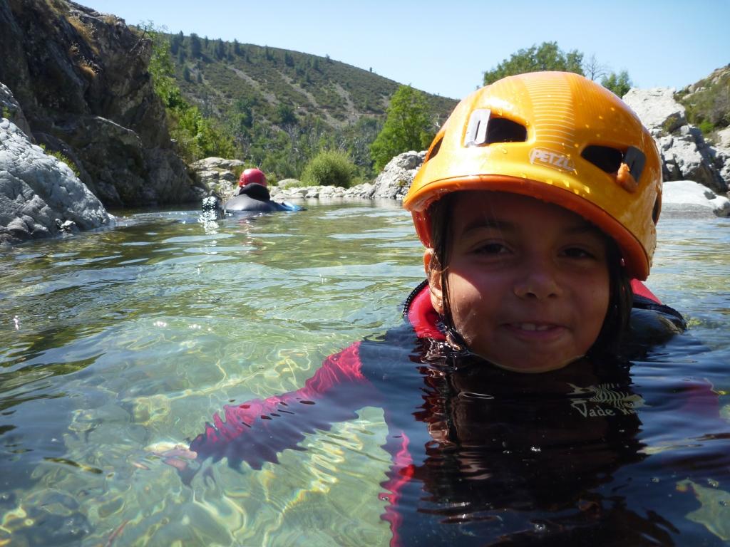 Canyon en famille en Corse