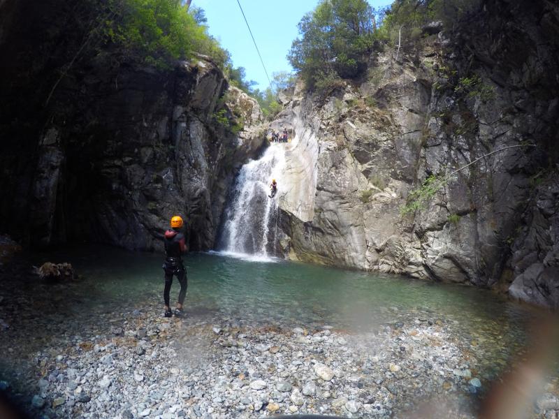 Le Verghellu en canyoning
